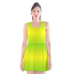 Pattern Scoop Neck Skater Dress by gasi