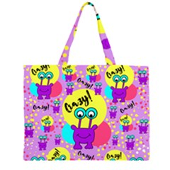 Crazy Zipper Large Tote Bag by gasi