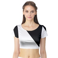 Pattern Short Sleeve Crop Top