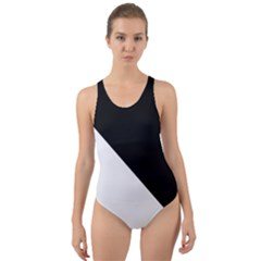 Pattern Cut-Out Back One Piece Swimsuit