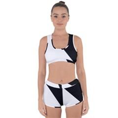 Pattern Racerback Boyleg Bikini Set