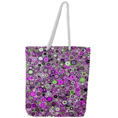 Pattern Full Print Rope Handle Tote (large)