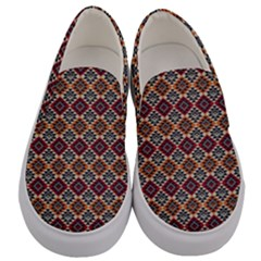 Native American Pattern 4 Men s Canvas Slip Ons