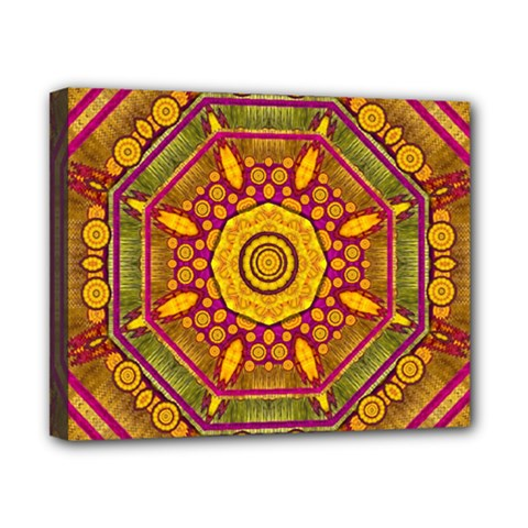Sunshine Mandala And Other Golden Planets Canvas 10  X 8  by pepitasart