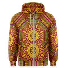 Sunshine Mandala And Other Golden Planets Men s Zipper Hoodie by pepitasart