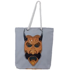 Mask India South Culture Full Print Rope Handle Tote (large)