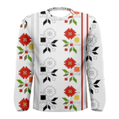Bulgarian Folk Art Folk Art Men s Long Sleeve Tee by Celenk