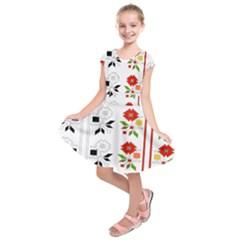 Bulgarian Folk Art Folk Art Kids  Short Sleeve Dress by Celenk
