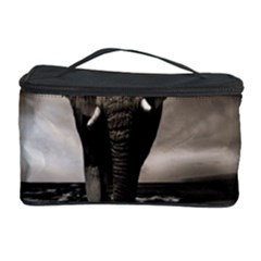 Elephant Black And White Animal Cosmetic Storage Case by Celenk