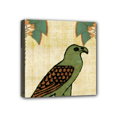 Egyptian Paper Papyrus Bird Mini Canvas 4  X 4  by Celenk