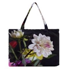 Dahlias Dahlia Dahlia Garden Zipper Medium Tote Bag by Celenk