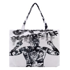 Black Music Urban Swag Hip Hop Medium Tote Bag by Celenk