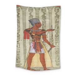 Egyptian Design Man Royal Small Tapestry by Celenk