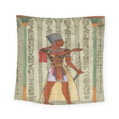 Egyptian Design Man Royal Square Tapestry (small) by Celenk
