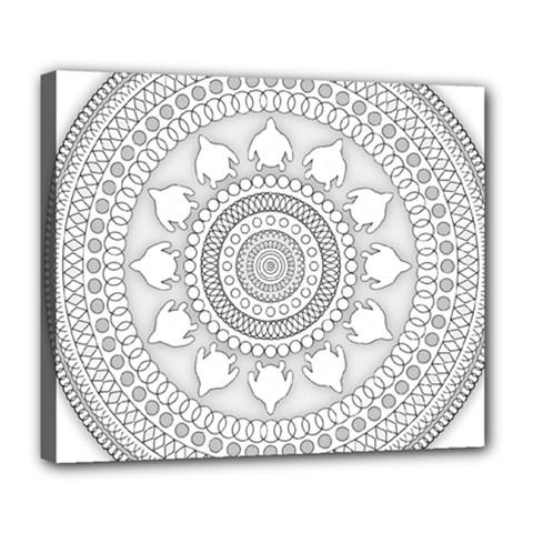 Mandala Ethnic Pattern Deluxe Canvas 24  X 20   by Celenk