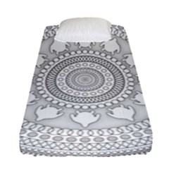 Mandala Ethnic Pattern Fitted Sheet (single Size) by Celenk
