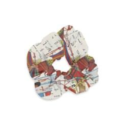 Egyptian Tutunkhamun Pharaoh Design Velvet Scrunchie by Celenk