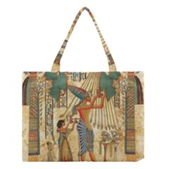 Egyptian Man Sun God Ra Amun Medium Tote Bag by Celenk