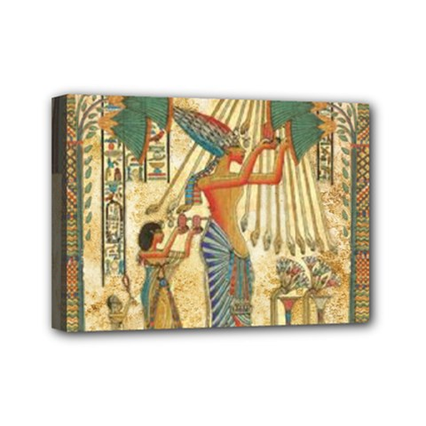Egyptian Man Sun God Ra Amun Mini Canvas 7  X 5  by Celenk