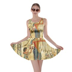 Egyptian Man Sun God Ra Amun Skater Dress