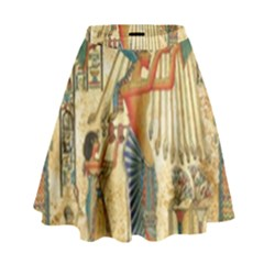 Egyptian Man Sun God Ra Amun High Waist Skirt