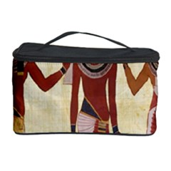 Egyptian Design Man Woman Priest Cosmetic Storage Case by Celenk