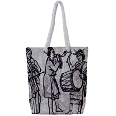 Man Ethic African People Collage Full Print Rope Handle Bag (small)