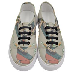 Egyptian Woman Wings Design Women s Classic Low Top Sneakers
