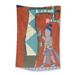 Mexico Puebla Mural Ethnic Aztec Small Tapestry by Celenk