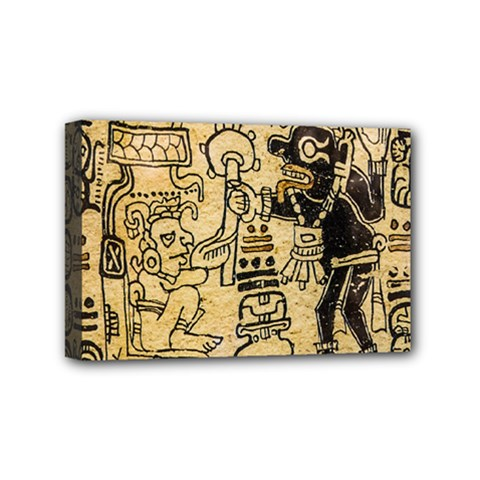 Mystery Pattern Pyramid Peru Aztec Font Art Drawing Illustration Design Text Mexico History Indian Mini Canvas 6  x 4