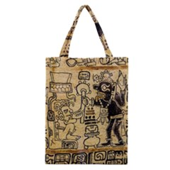 Mystery Pattern Pyramid Peru Aztec Font Art Drawing Illustration Design Text Mexico History Indian Classic Tote Bag