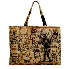 Mystery Pattern Pyramid Peru Aztec Font Art Drawing Illustration Design Text Mexico History Indian Zipper Mini Tote Bag