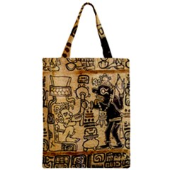Mystery Pattern Pyramid Peru Aztec Font Art Drawing Illustration Design Text Mexico History Indian Zipper Classic Tote Bag