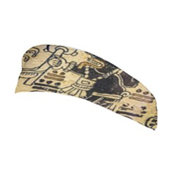 Mystery Pattern Pyramid Peru Aztec Font Art Drawing Illustration Design Text Mexico History Indian Stretchable Headband