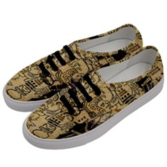Mystery Pattern Pyramid Peru Aztec Font Art Drawing Illustration Design Text Mexico History Indian Men s Classic Low Top Sneakers