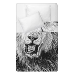 Lion Wildlife Art And Illustration Pencil Duvet Cover Double Side (single Size) by Celenk