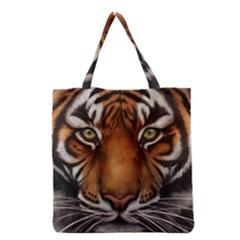 The Tiger Face Grocery Tote Bag by Celenk