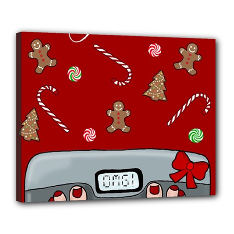 Hilarious Holidays  Canvas 20  X 16  by Valentinaart
