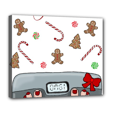 Hilarious Holidays  Deluxe Canvas 24  X 20   by Valentinaart