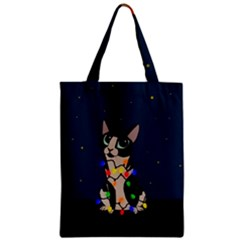 Meowy Christmas Zipper Classic Tote Bag by Valentinaart