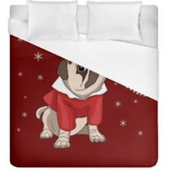 Pug Xmas Duvet Cover (king Size) by Valentinaart
