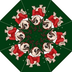 Pug Xmas Golf Umbrellas by Valentinaart