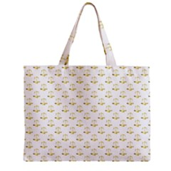 Gold Scales Of Justice On White Repeat Pattern All Over Print Mini Tote Bag by PodArtist