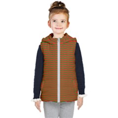 Christmas Red And Green Chevron Zig Zag Stripes Kid s Puffer Vest
