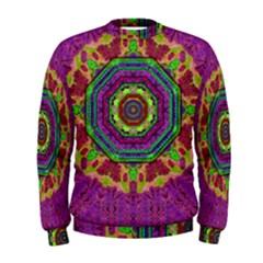 Mandala In Heavy Metal Lace And Forks Men s Sweatshirt by pepitasart