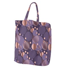 Random Polka Dots, Fun, Colorful, Pattern,xmas,happy,joy,modern,trendy,beautiful,pink,purple,metallic,glam, Giant Grocery Zipper Tote by 8fugoso