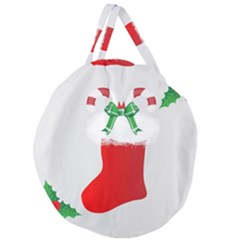 Christmas Stocking Giant Round Zipper Tote by christmastore