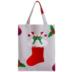 Christmas Stocking Zipper Classic Tote Bag by christmastore