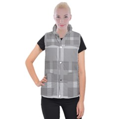 Gray Designs Transparency Square Women s Button Up Puffer Vest