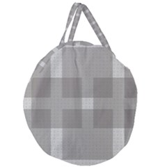 Gray Designs Transparency Square Giant Round Zipper Tote